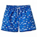 Board Shorts With Sharks On Royal Blue